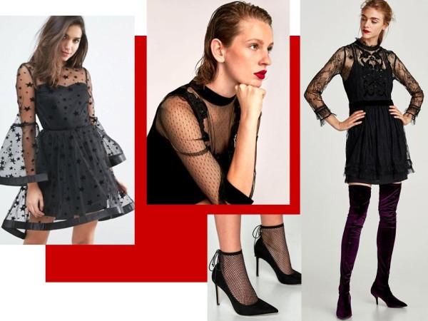 Платья вечерние, секси, черные кружевные
