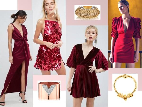 Платья вечерние, секси, темно-красные