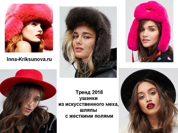 Головные уборы 2018, ушанки, шляпы