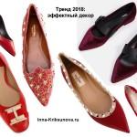 Нарядные туфли без каблука, красные