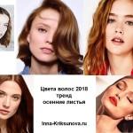 Цвета волос 2018, осенние листья