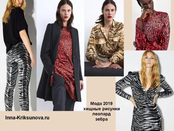Модные принты 2019 - леопард, зебра